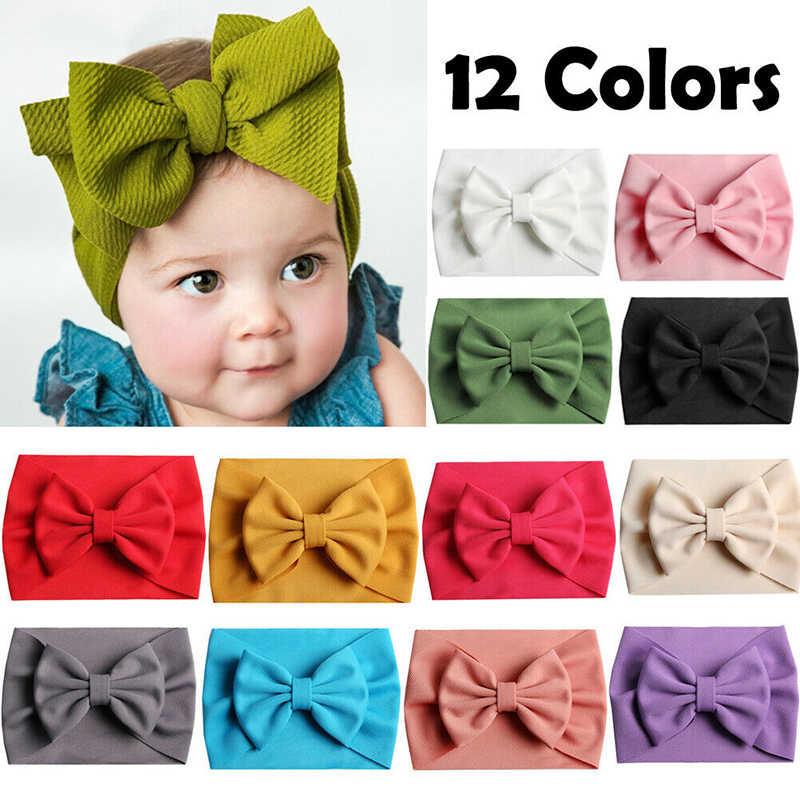 Baby Girls Kids Toddler Bow Knot Hairband Headband Stretch Turban Head Wrap NEW