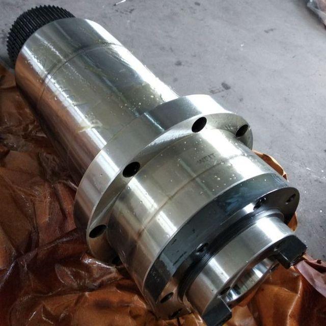 Шпиндельный шкив с ЧПУ bt40, синхронный шкив для фрезерного станка с ЧПУ, лепестковый зажим ATC + пружина диска + Тяговая планка для воздушного охлаждения