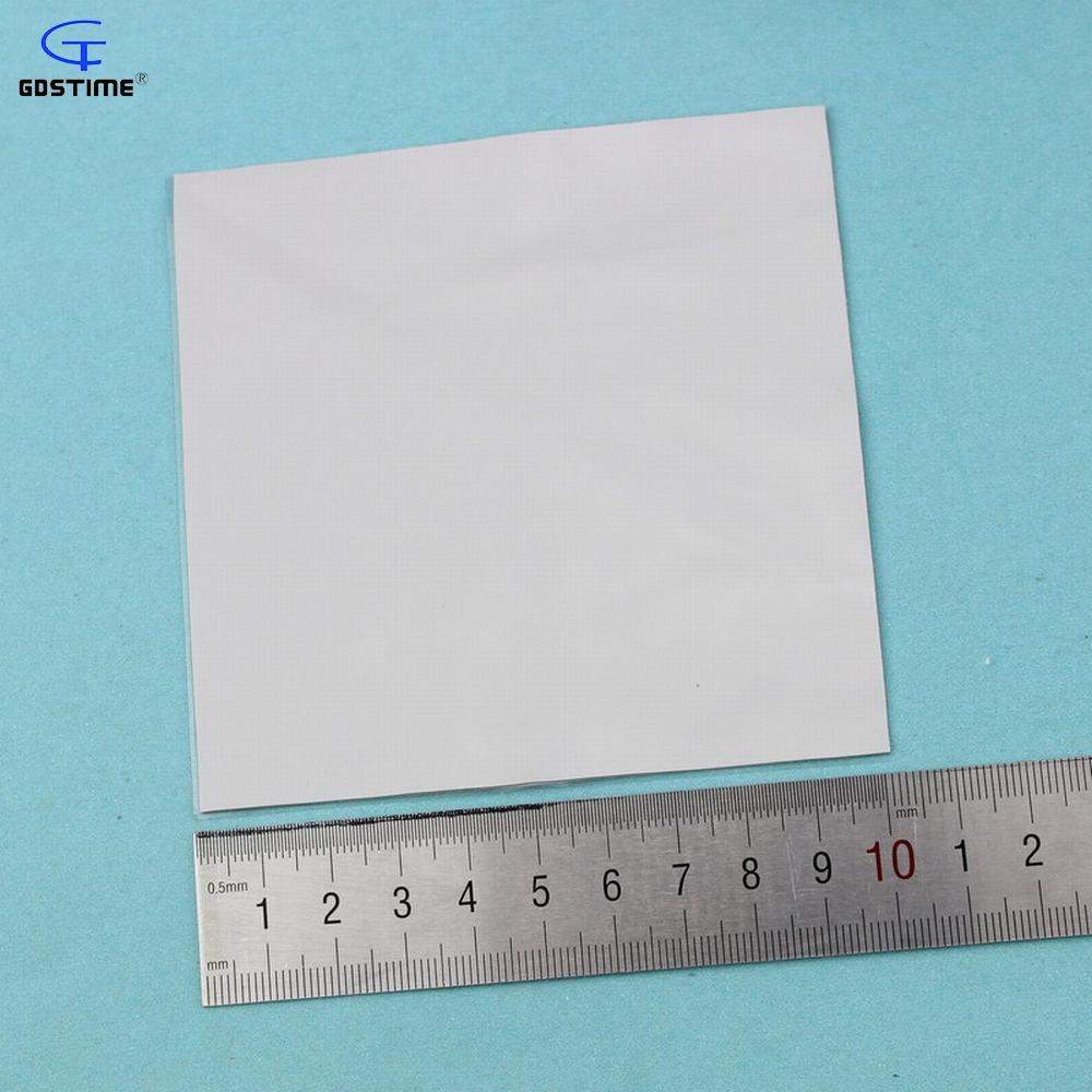 2 pcs Gdstime 100x100x 1.5 mm Thermal Conductive Silicone Pad for Laptop CPU GPU Heatsink Cooling 100mm x 1.5mm Soft Gray