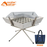 Portable Quick Open Folding BBQ Grill Set For Camping Cooking For Outdoor Activity Camping Equipment Charcoal