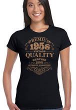 Style Print Tee Shirt Women'S Regular O-Neck Short-Sleeve Aged To Perfection 1958  Tee Shirt watermelon print short sleeve tee