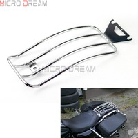 Solo Motorcycles Luggage Rack Chrome Rear Passenger Seat For Harley Touring Road King Electra Glide FLHT FLTR FLHR 1998 2004