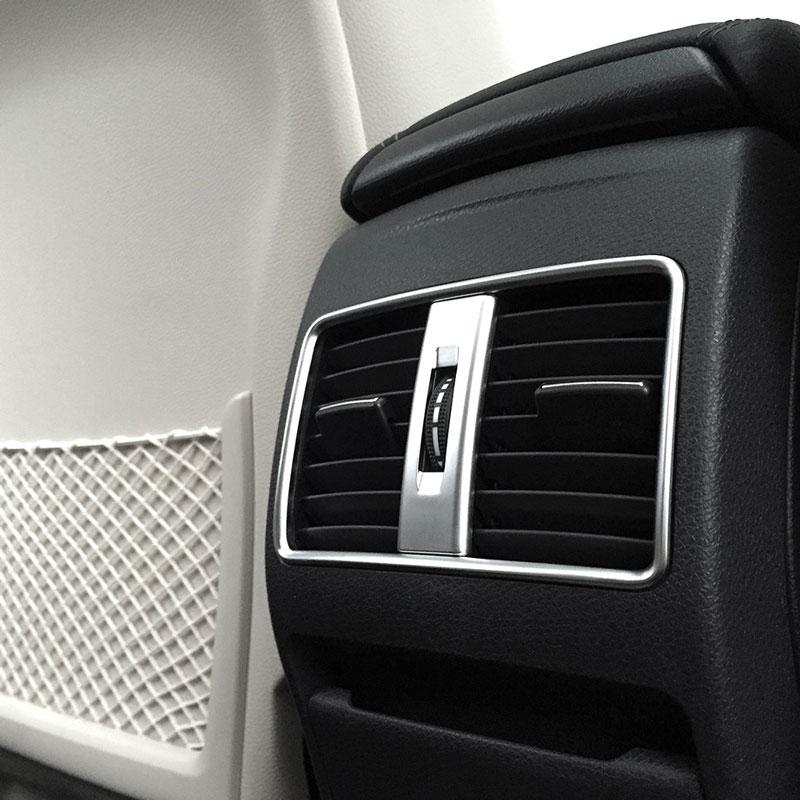 Acessórios do carro para Mercedes Benz CLA GLA UMA Classe B W117 W176 X156 W245 Estilo Do Carro Traseiro Tomada de Ar Condicionado guarnição