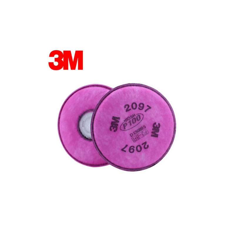 3M 2097 Original Particulate Filter P100 Standard Respiratory Protection Nuisance Level Organic Vapor Relief Use with 3M Mask K0 3m 7501 2097 half facepiece mask reusable respirator p100 respiratory protection nuisance level organic vapor relief xk005