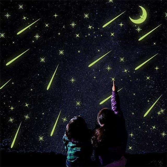 Meteor Shower Naklejki Scienne Swiecace Gwiazdy Home Naklejka