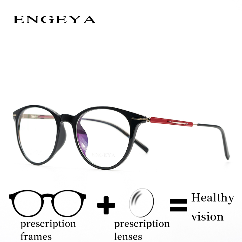 ENGEYA Titanium Clear Eyeglasses Frame Noughts Zero Optical Prescription Reading Computer Glasses Frame Women 6 Colors