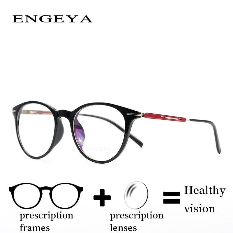 ENGEYA Titanium Clear Eyeglasses Frame Noughts Zero Optical Prescription Reading Computer Glasses Frame Women 6 Colors # F001