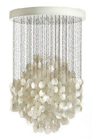 Sea rock shells 50/60cm natural shell lamp fashion decorative light Sea style pendant light FG263 bohemian style shells forehead chain
