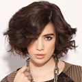 Fashion Body Wave Full Lace Wig For European and American Women Natural Loose Lady Wigs Dark Brown Hair Pieces