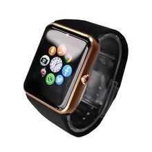 GT08 Smart Uhr Mit Sim Einbauschlitz Push-nachricht Bluetooth Smartwatch Tragbare Konnektivität Android Telefon Besser Als DZ09