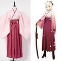 Destino grand orden sable sakura kimono cosplay para mujeres niñas