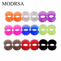 MODRSA 9 Pair Thin Silicone Ear Skin Flexible Flesh Tunnel Expander Gauge Stretchers Earlets Ear Expander