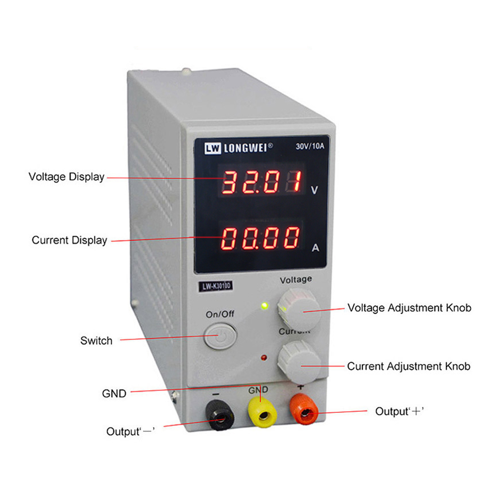 Image 3 - K3010D dc power supply 4 digit display repair Rework Adjustable power supplylad lad switch power 30V10A laboratory power supply-in Switching Power Supply from Home Improvement