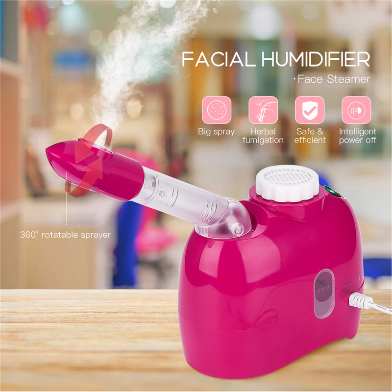 Facial Steamer Hot Steam Spray Aroma Mist Sprayer with Extendable 360 Degree Rotatable Arm Home SPA Sauna Face Moisturizing 35Facial Steamer Hot Steam Spray Aroma Mist Sprayer with Extendable 360 Degree Rotatable Arm Home SPA Sauna Face Moisturizing 35