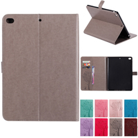 High Quality Cases For Apple IPad Air Air2 PU Leather Flip Stand Cat Tree Pattern Case