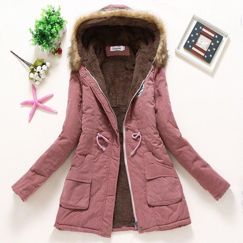 Femmes vestes d'hiver 2018 femelle manteau coton parka à capuche Solide 11 couleur chaude d'étalonnage à manches longues d'agneau vêtements chauds AE-199