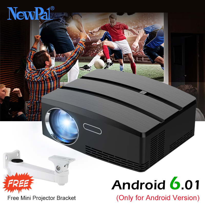 Newpal Projecteur GP80 UP Mini Projecteur Android 6.01 4 K/2 K WIFI Bluetooth Full HD LED Beamer Soutien HDMI Miracast Airplay TV