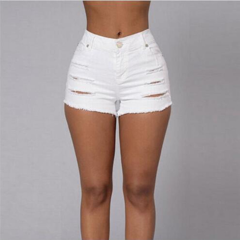Popular White Jeans Short-Buy Cheap White Jeans Short lots from ...