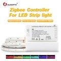 Zigbee ha condotto la striscia luce di lavoro con alexa eco puls rgb/rgbw/rgb + cct bianco caldo 24 V zigbee controller smart phone di controllo HA CONDOTTO LA luce