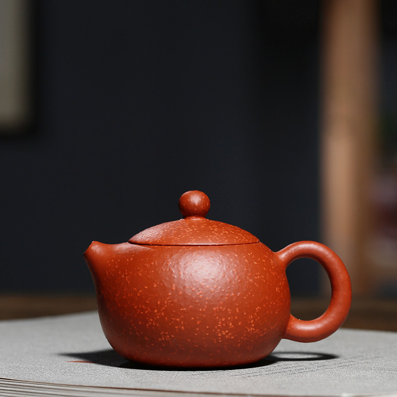 Yixing Purple Sand Pot Real Handmade Raw Mine Fish Seed Zhuni Xishi Pot Kungfu Teapot Teapot Ball Hole 120 mlYixing Purple Sand Pot Real Handmade Raw Mine Fish Seed Zhuni Xishi Pot Kungfu Teapot Teapot Ball Hole 120 ml