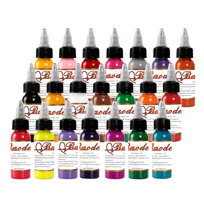 21 Colors Tattoo Pigment Ink Set 30ml/Bottle Tattoo & Body Art Body Painting Permanent Makeup Pigment Ink for Tattoo цена