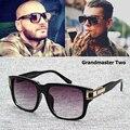 2016 Nueva Moda Gran Maestro Dos Gradiente gafas de Sol de Los Hombres Retro de La Vendimia de Hip Hop Estilo gafas de Sol Gafas De Sol Gafas Masculino