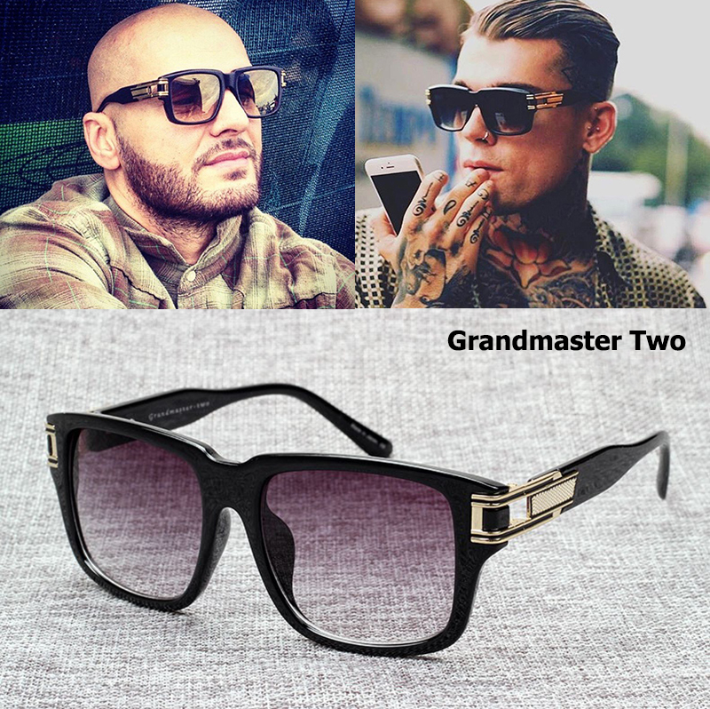 JackJad Fashion Grandmaster Two Gradient Sunglasses Men Retro Vintage - Accesorios para la ropa - foto 1