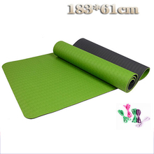 TPE 6 mm Non-Slip Printing Yoga Mat Exercise Fitness Mat Lose Weight Eco-friendly TPE Yoga Mat 183*61*0.6 cm Body Building