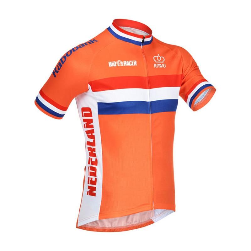 Prix pour Hommes cyclisme jersey Pays-Bas nouveau orange vélo équitation pro racing team vélo clothing maillot personnalisé maillot de vélo personnalisé