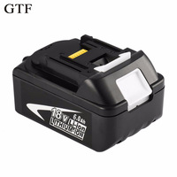 GTF 18V 6000mAh Power Tool Battery Packs for Makita BL1860 Replacement Battery Rechargeable Li ion Batteria 194230 4 LXT400 Cell
