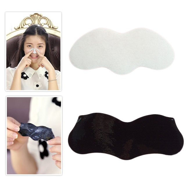 10 piezas máscara de la nariz pelar la etiqueta engomada de la nariz tiras de limpieza de poros removedor de espinillas negro blanco