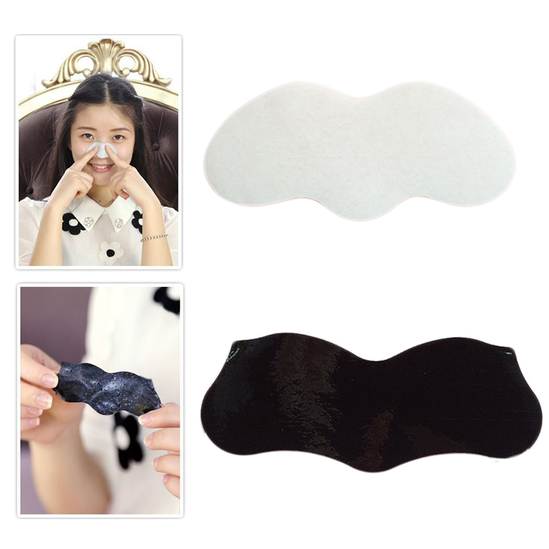 10Pcs Nose Mask Peel Off Nose Sticker Pore Cleansing Strips Blackhead Remover Black White10Pcs Nose Mask Peel Off Nose Sticker Pore Cleansing Strips Blackhead Remover Black White