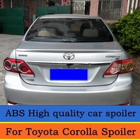 For Toyota Corolla Spoiler 2008 2009 2010 2011 2012 2013 Car Decoration ABS Plastic Paint Painting Color Rear Trunk Spoiler