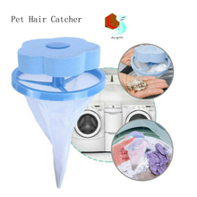 1pcs Home Floating Pet Hair Catcher Mesh Pouch Laundry Ball Fur Lint Remover Clothes Filter Bag Cleaning