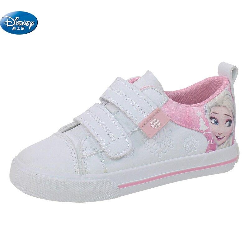 Disney reine des neiges enfants rose chaussures décontractées filles 2108 elsa et Anna princesse pas de lacet pu chaussures de sport Europe taille 25-36