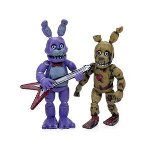 Image 5 - 4 pz 4 delle Cinque Notti a Freddy Serie di Azione PVC Figure Set 4.5 6.5 cm Freddy Fazbear Bonnie chica Foxy Sorella Posizione Bambole