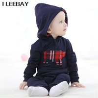 Autumn Baby Boy Clothes Horse Print Soft Cotton Rompers Newborn Hooded Clothing Baby Girl Pajamas Infant