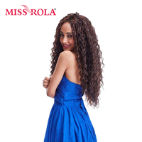 Miss Rola Long Curly Sew In Weave Synthetic Hair Extensions Two Tone Ombre Color 22inch Kanekalon