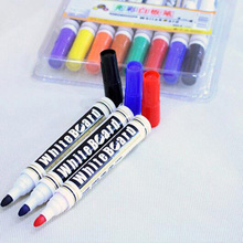 Free shipping students children use the whiteboard markers pen can dry erase 8 color suits ink liquid chalk marker / Q018(China)
