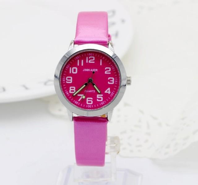 2018 Fashion Women Girl Dress Bracelet Watch Quartz Clock Leather Band Analog Qu