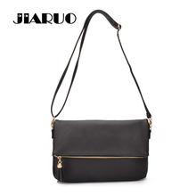 JIARUO Fold Cover Women PU Leather Tassel Shoulder Bag Ladies Handbags  Girls Travel Sling Casual Messenger Crossbody Bag Bolsos 9b781b2415f72