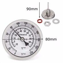 Металлический бар Пивной термометр для пивоварения 3 дюйма двойной весы термометр комплект MJJ88