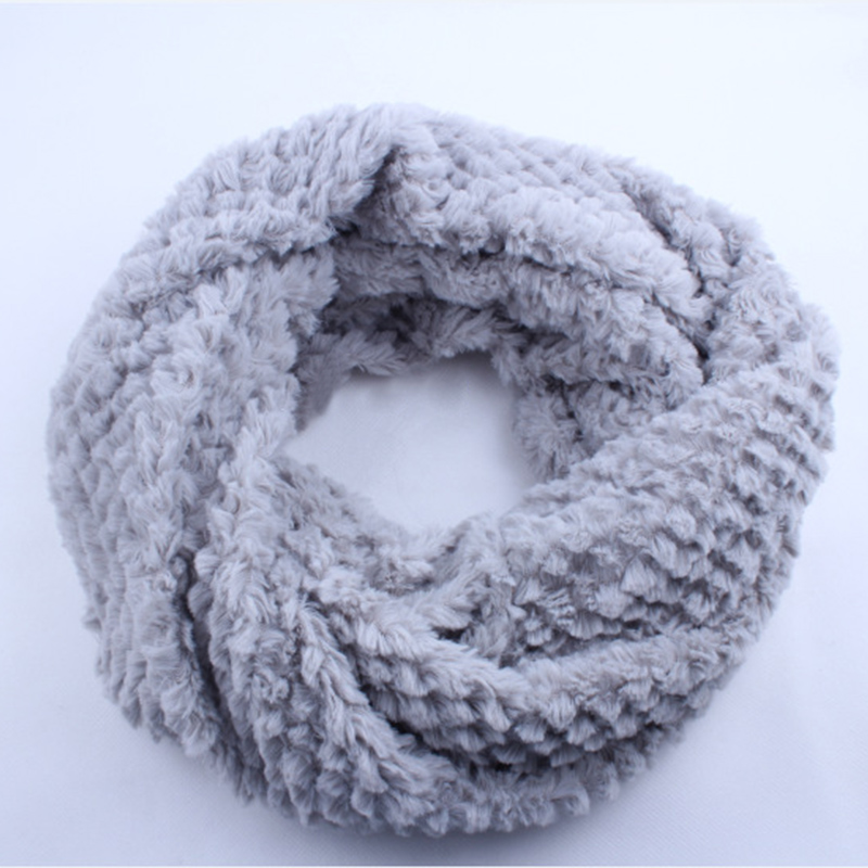2017 Ladies Women Short Faux Fur scarfs   wrap   Luxury Large Wool Fur Snood Neck Tie Circle Loop   Scarf     wrap   for Girls Winter Snow