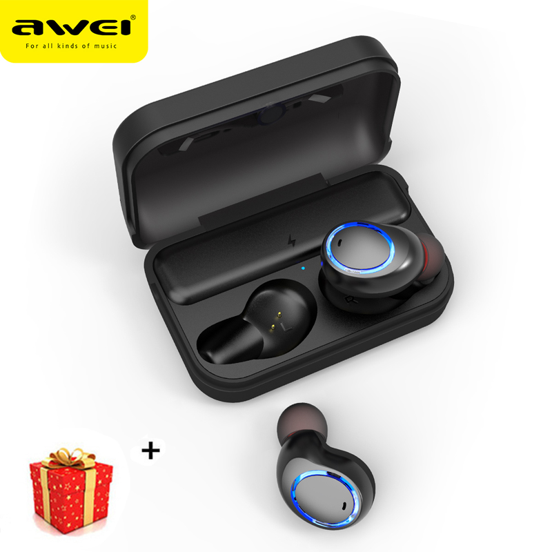 Awei Mini 5.0 Bluetooth Earphone Wireless Headphone For Phone iPhone Headset Earbud Handsfree Earpiece In Ear Bud In ear Freebud