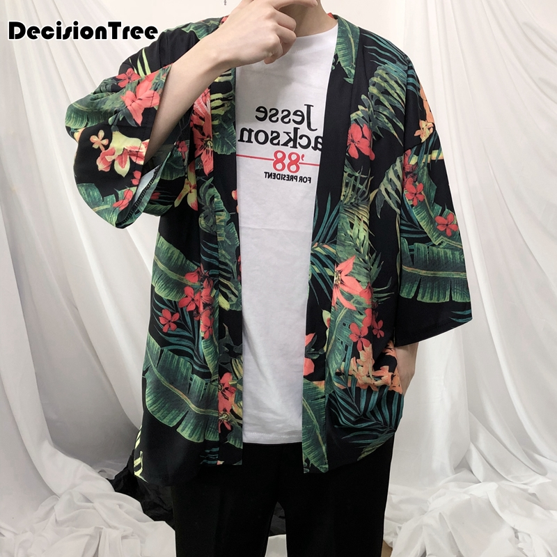 ee20f1148 מעילים וג'קטים 2019 new mens kimono designer cool japanese clothes swag  male streetwear casual outwear jackets harajuku cardigan outwear