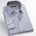 Fashion New Men Plaid Shirts Long Sleeved Mens Dress Shirt Spring Summer Formal Business Casual Shirts Camisa masculina