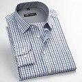 Nova moda Dos Homens Camisas Xadrez de Manga Comprida Camisa de Vestido Dos Homens Primavera Verão Formal do Negócio Camisas Casuais Camisa masculina