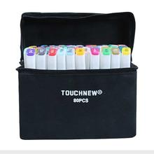 TOUCHNEW (T7) 30/40/60/80/168 สี Art Marker ชุดแอลกอฮอล์ปากกา Marker Fineliner สำหรับ drawing มังงะอุปกรณ์สำนักงาน