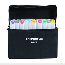 TOUCHNEW(T7) 30/40/60/80/168 Colors Art Marker Set Alcohol Based Sketch Marker Pen Fineliner  For Drawing Manga Office supplies цена в Москве и Питере