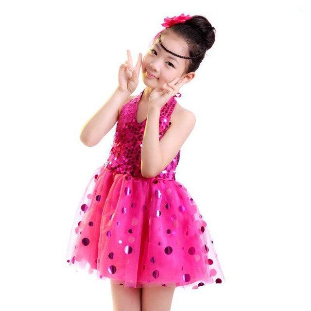 6282d15fd Kids Sequined Dress Female Singer Costume Latin Dance Dress For ...